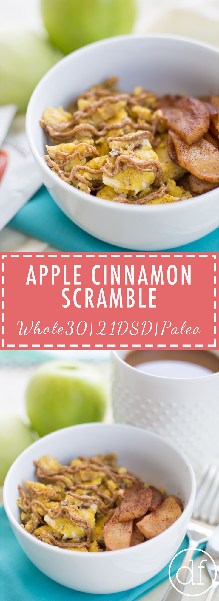 Apple Cinnamon Scramble, 21DSD, 21DSD Approved, 21 Day Sugar Detox, Breakfast, Paleo, Whole30, Easy Recipes, Paleo Recipes, Apple Cinnamon, Breakfast Scramble, 21DSD Coach,