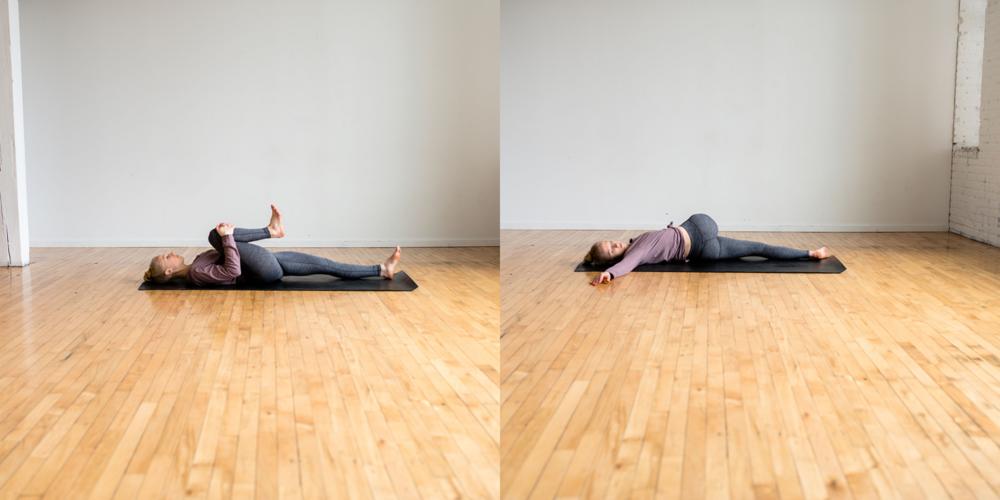 Supine Spinal Twist, Supine Twist, Yoga For Beginners, Bedtime Yoga, Bedtime Yoga Postures, Bedtime Yoga Routine, Define Fettle