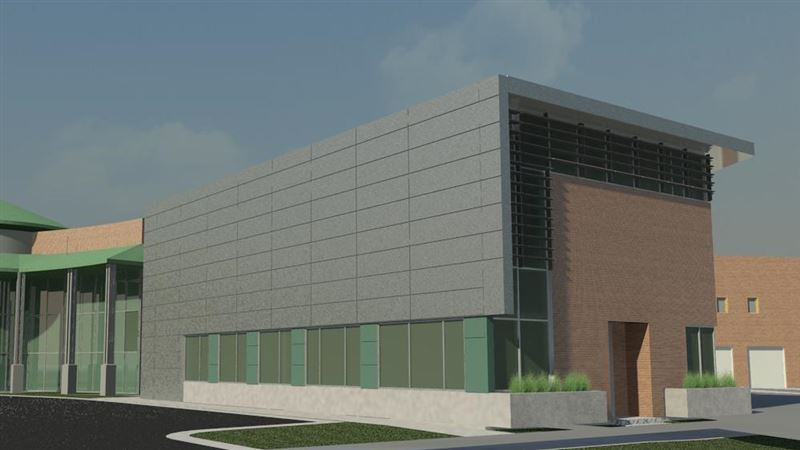 An artist's rendering illustrates the new addition of the Weber Area Dispatch 911 and Emergency Services building to the Francom Public Safety Center.