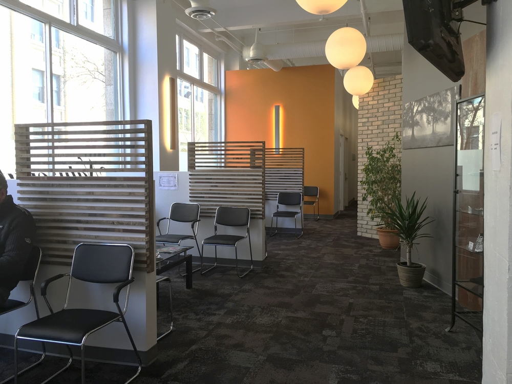 Our new facility's waiting room