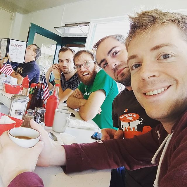 Band breakfast before heading to the KVMR Festival. See you there!