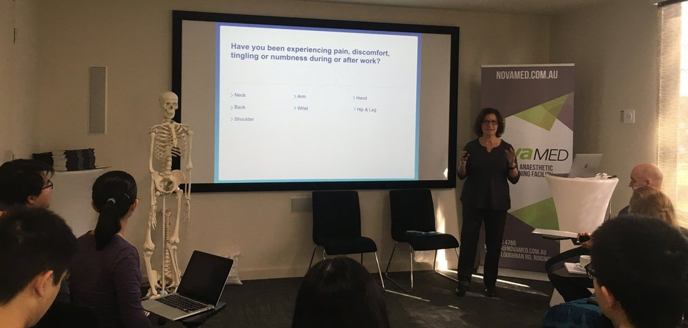 Dr Anikó Ball presenting at a seminar.jpg