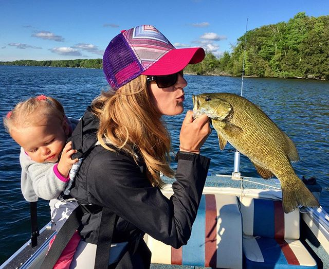 Love is in the air!  #puremichigan #smallmouthbass #bass #fishing #kisses #beautiful