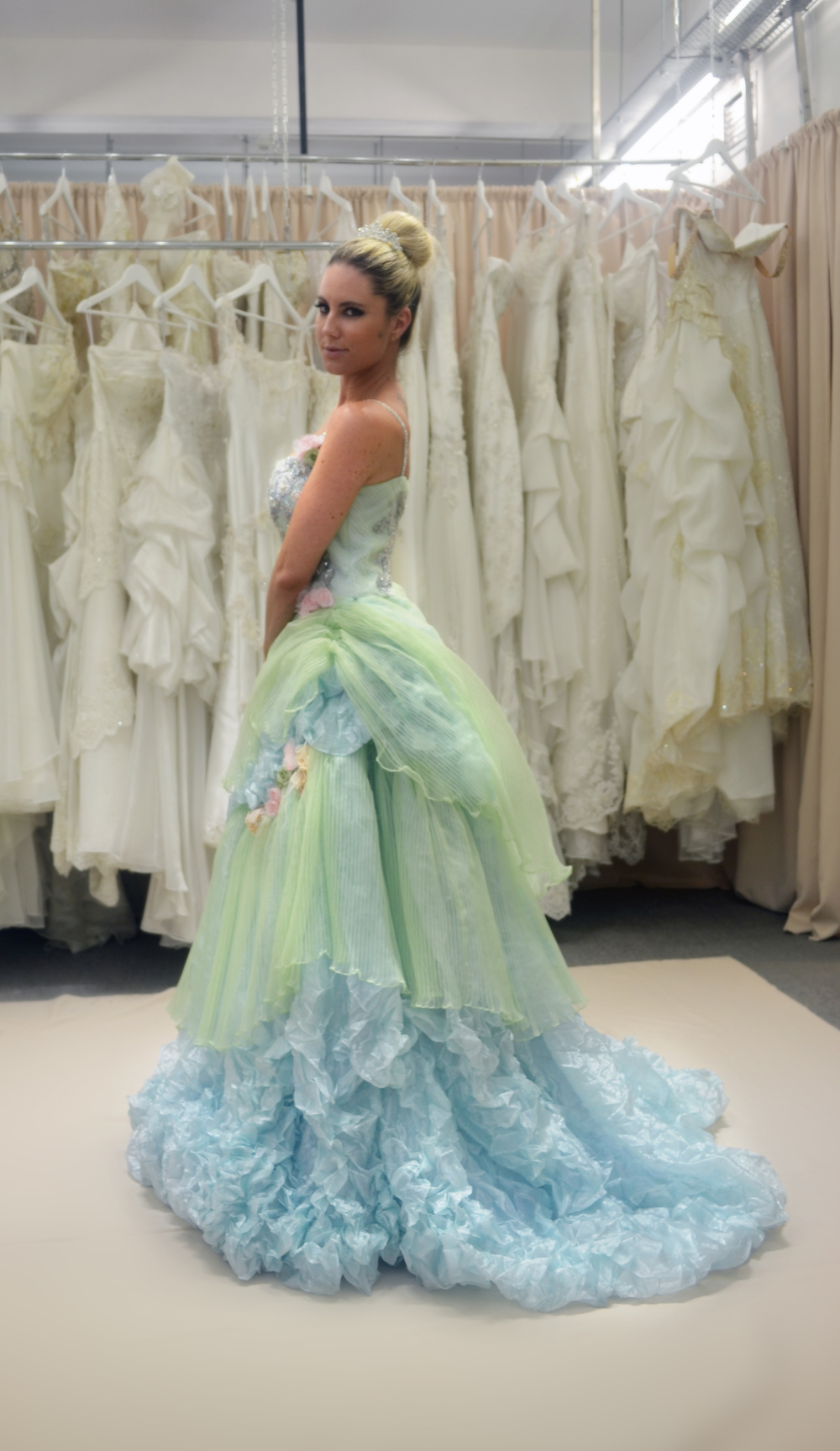 Custom made ball gowns