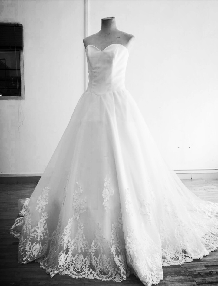custom made bridal dress