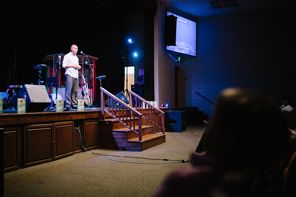 Ed Rusk encourages CONNECT Church members to draw on personal spiritual training.