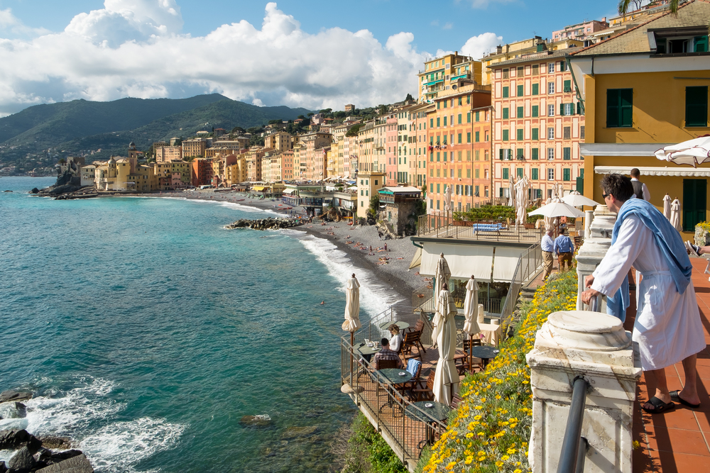 The view from Hotel Cenobio dei Dogi, Camogli