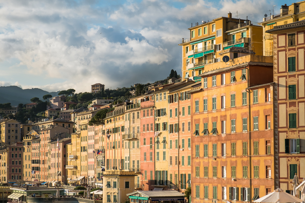 A wall of buildings, Camogli