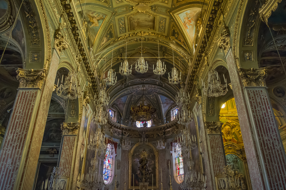 Inside the Basilica, Camogli