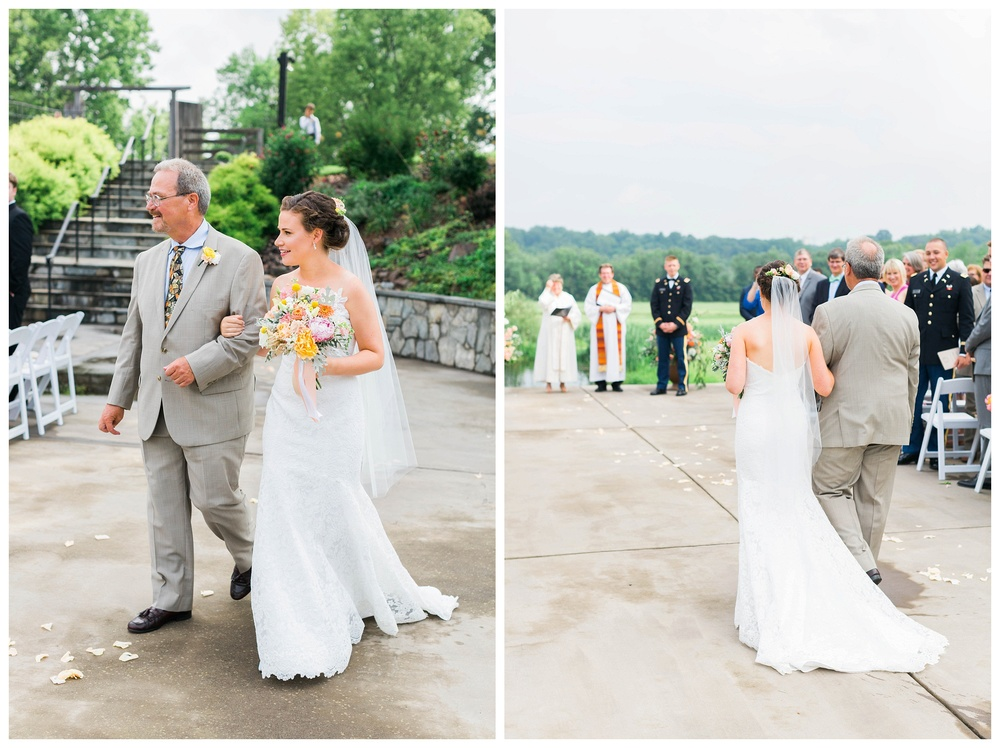bride_walking_down_the_isle_Potomac_on_the_river_venue_Navy_wedding_Natalie Jayne Photography_image