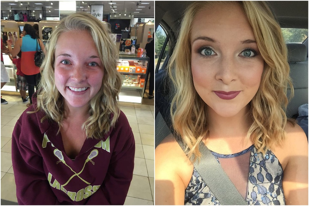 Corrin and mj engaged makeup before and after