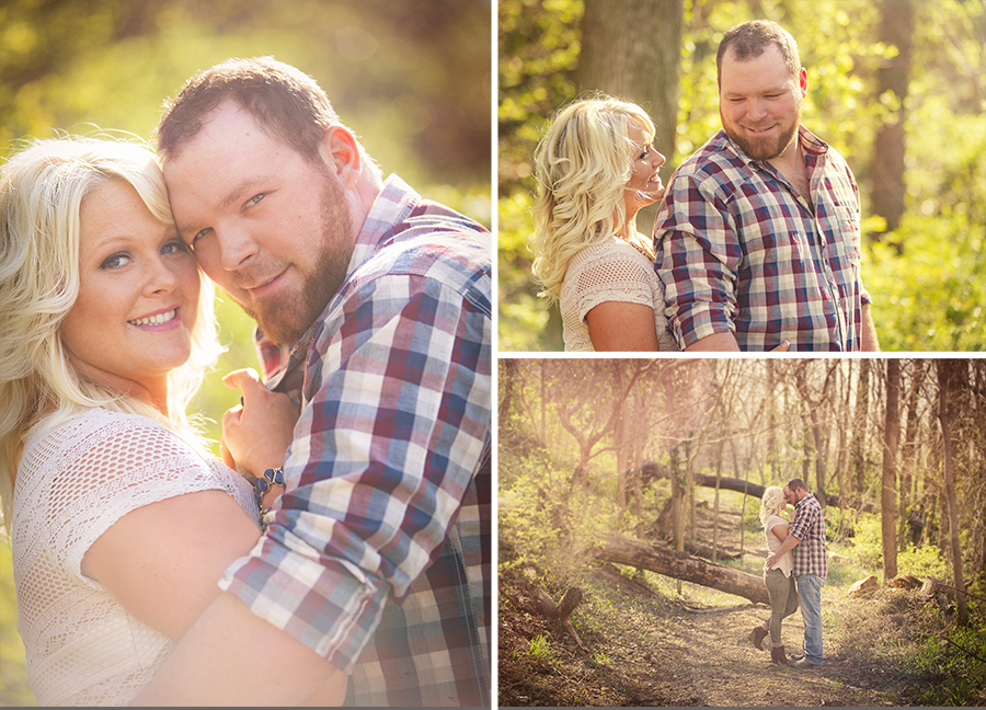 From a rustic and romantic engagement session at  watershed nature park