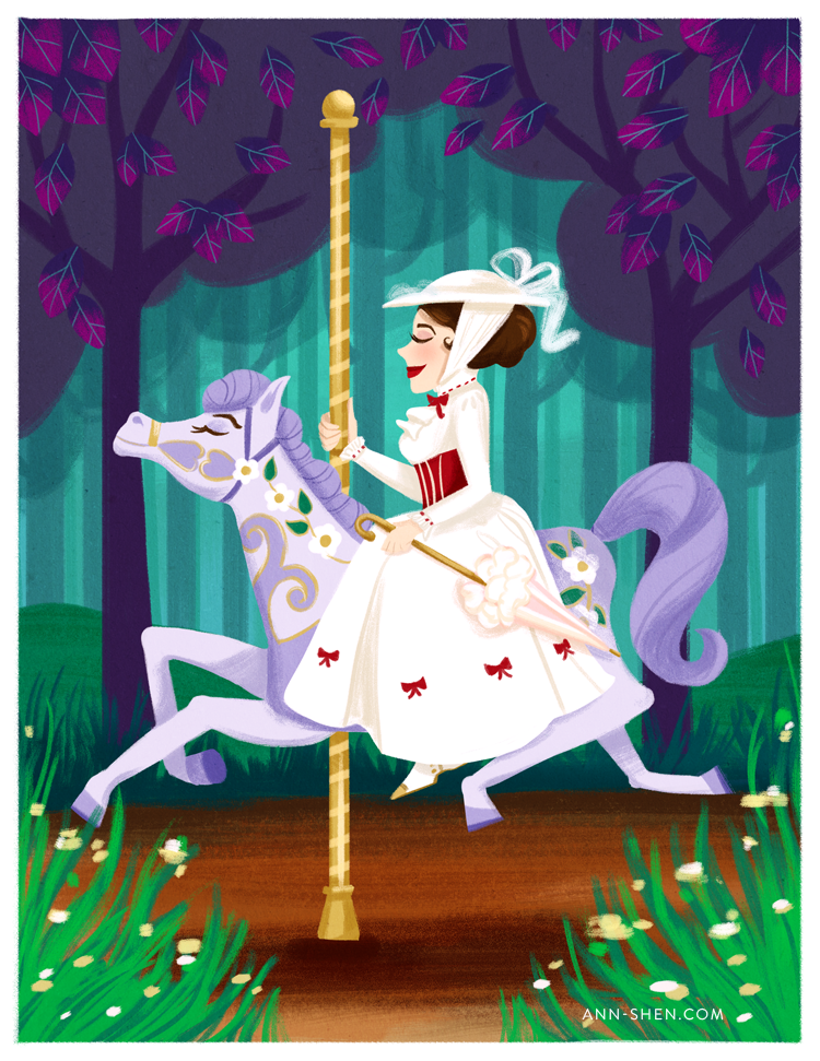 Mary poppins carousel horse