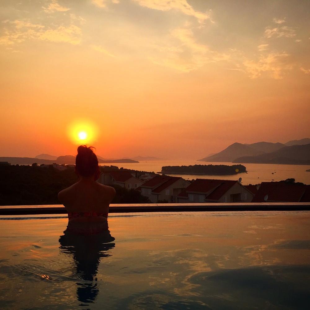 Upea auringonlasku Dubrovnikissa
