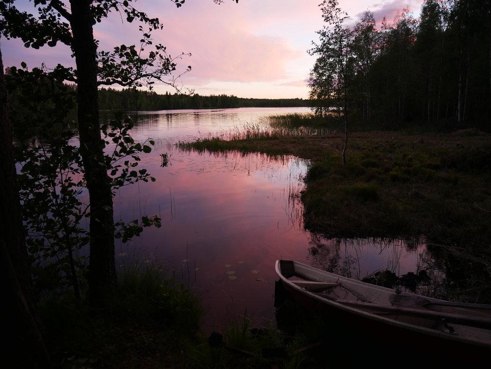 auringonlasku Saimaa