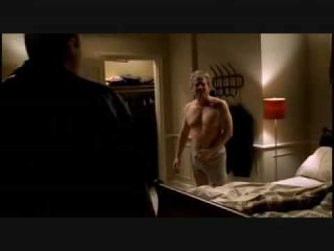 Tony Soprano give his ex Gumar's new hubby the belt after hearing The Chi Lites' love song.