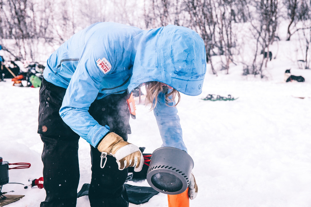 fjallraven polar morning breakfast fire