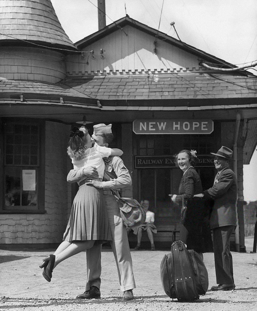 This, taken in 1945 in Connecticut, says it all