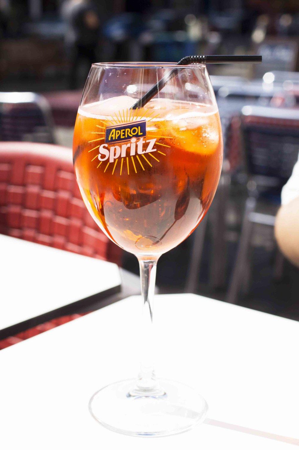 Aperol Spritz in the Sunshine