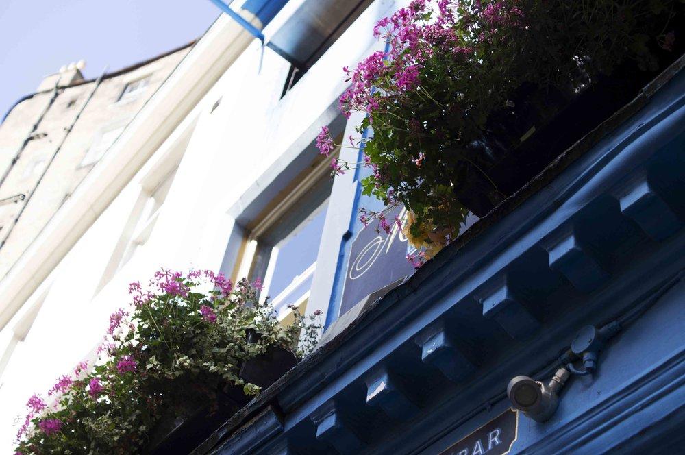 Looking Up At Maison Bleue, Edinburgh