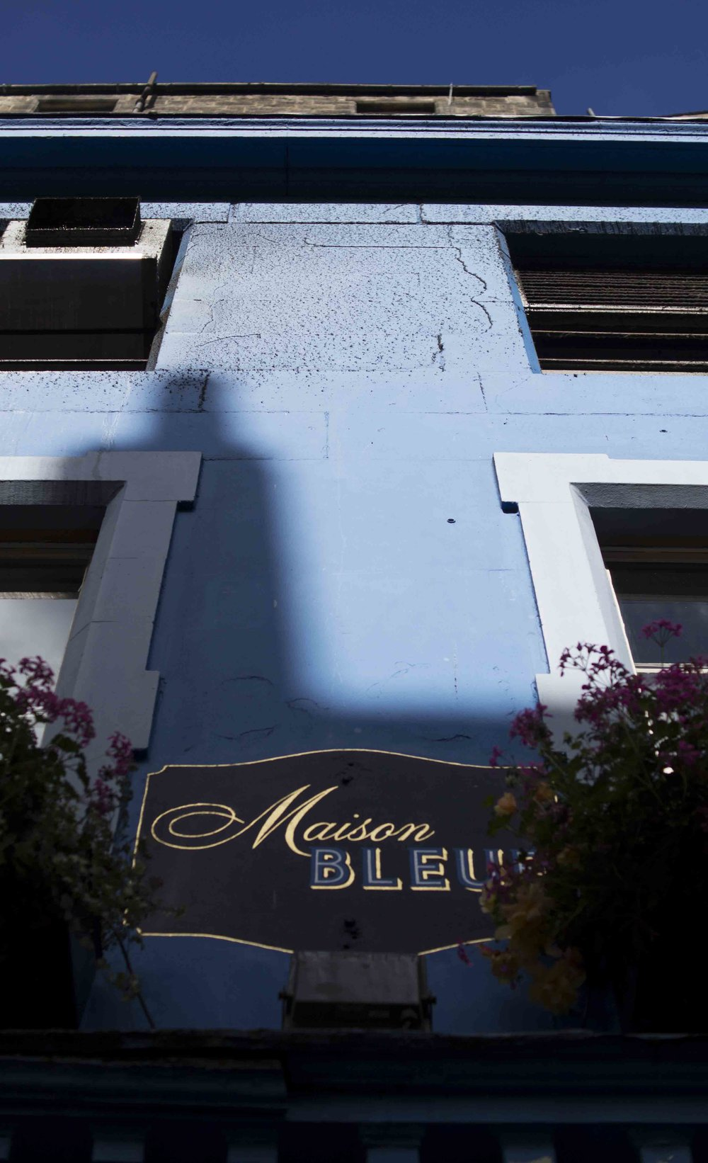 Maison Bleue In Sunshine and Shadows, Edinburgh