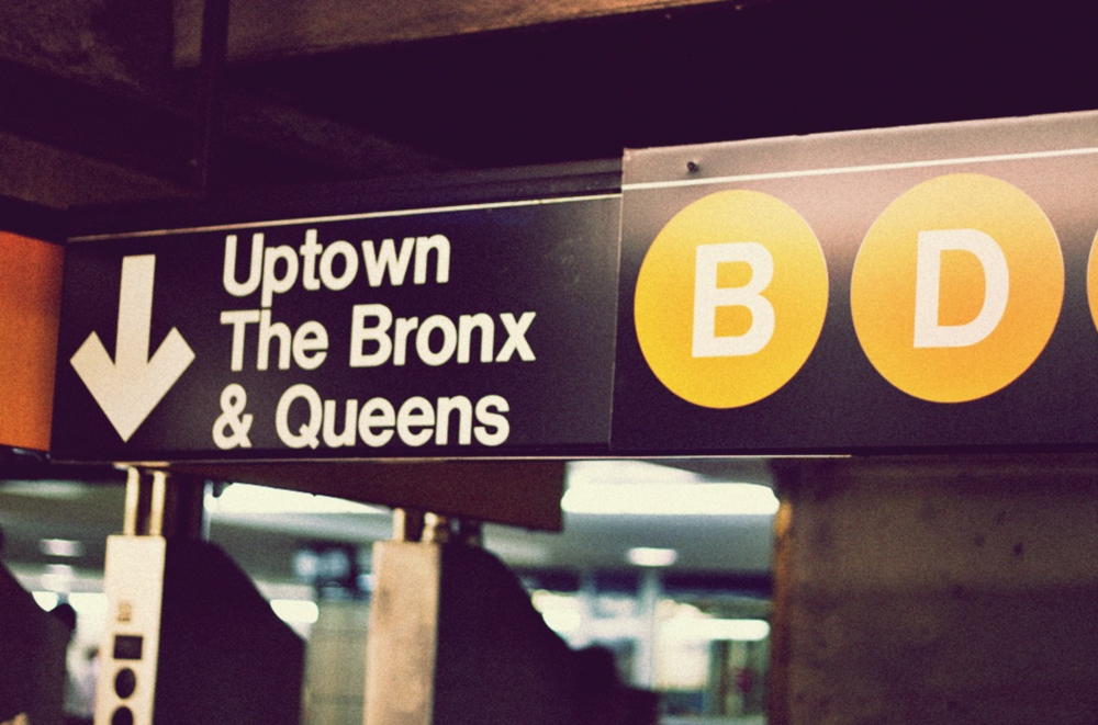 And the equally as recognisable New York City Subway signage lettering. Image also from Flickr.