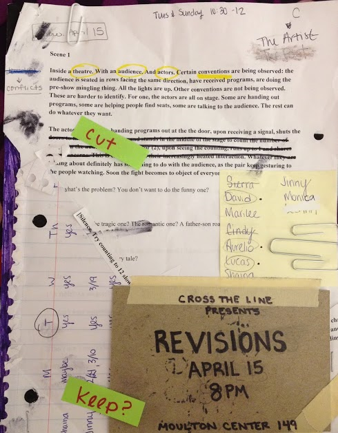 "Poster for ""Revisions,"" designed by LeeAnn Dowd"