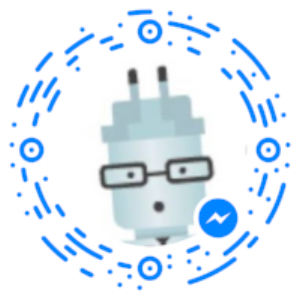 Click the image and scan with your Facebook Messenger App for a chatbot example