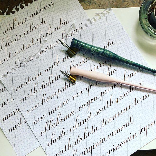 Practice practice practice because my calligraphy is stale. #flourishforum #practicepracticepractice #practicecalligraphy