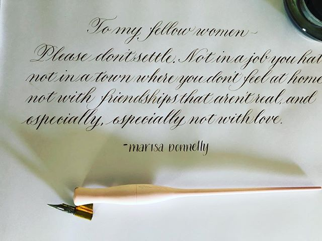 Love this quote #flourishforum #quote #marisadonnelly #pointedpencalligraphy #calligraphy #love