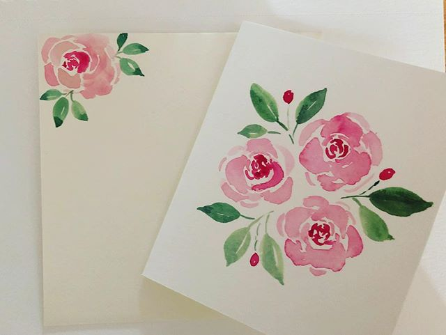A card going to a very special person. #watercolorroses #watercolorpainting #watercolor #homemadecards #love #friendship this is what inspires me. I get inspired by kindness in people and I just want to give them something to make them smile. It's a passion!