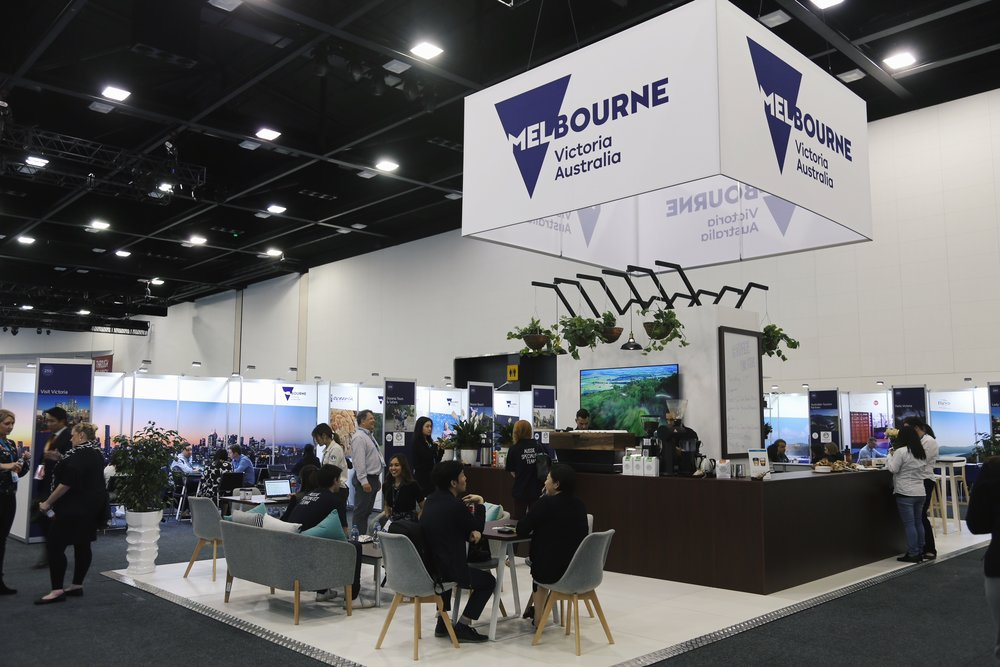 visit victoria ATE 2018 trade stand