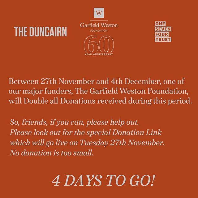 Can you help us raise some funds? All Donations to @theduncairn & 174 trust until 4th December will be Doubled.  Please, if you can afford to contribute anything, all assistance is greatly appreciated, as are retweets.  Visit this link to get started: secure.thebiggive.org.uk/donation/to/67…