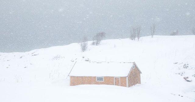 Whiteout series part one. From inside the car, the snow storm outside, and the little yellow cabin... ☃️ . Parte uma da série Whiteout. De dentro do carro, a tempestade de neve lá fora e a pequena cabana amarela ... ☃️