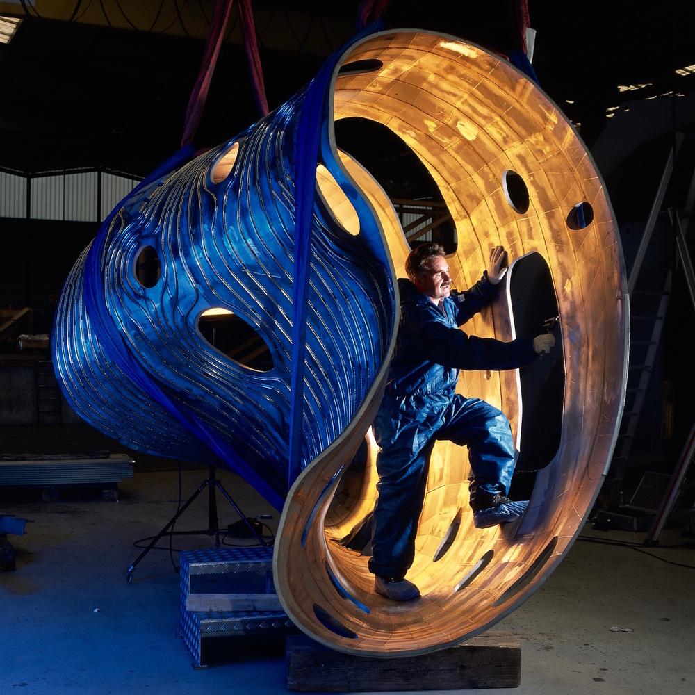 Das Plasmagefäß in der Konstruktion. Ein Hauch von Science Fiction © IPP/Wolfgang  Filter