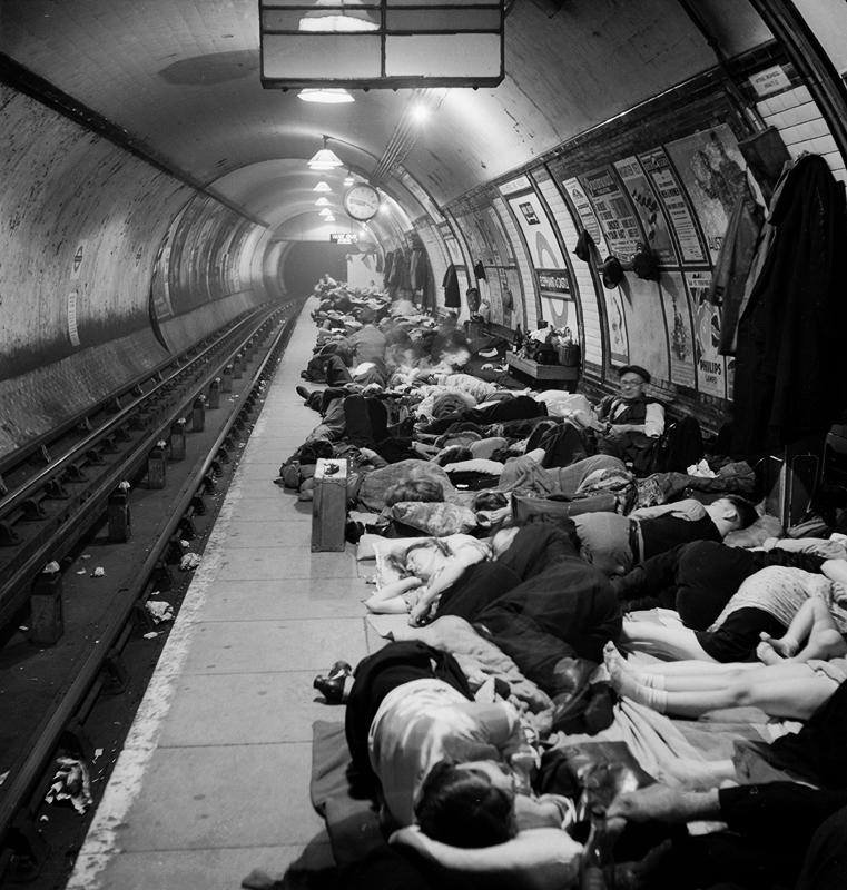 Liverpool Street Underground Station Shelter (1940)