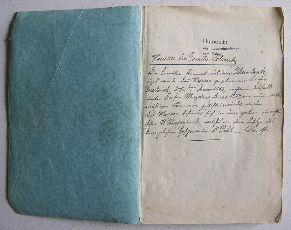 Friedrich Josef Axenmacher: Dumoulin der Steuereinnehmer von Zülpich, Volksblatt Verlag, Euskirchen, 1938.