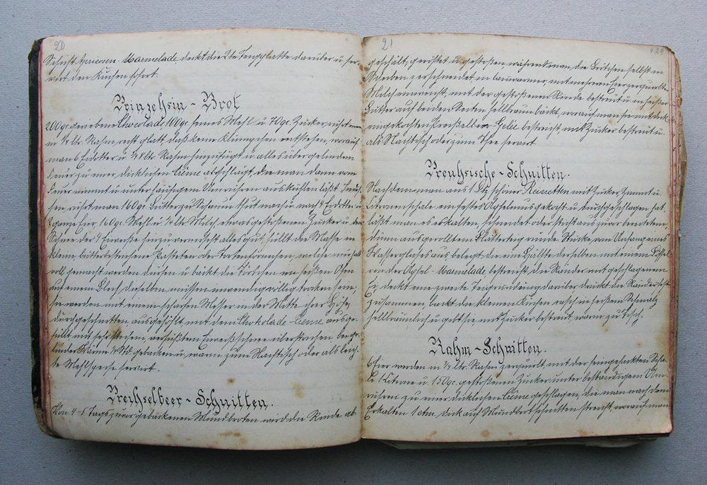 Prinzessinbrot - Preißelbeer-Schnitten - Preußische Schnitten © Auteurs inconnus, droits réservés