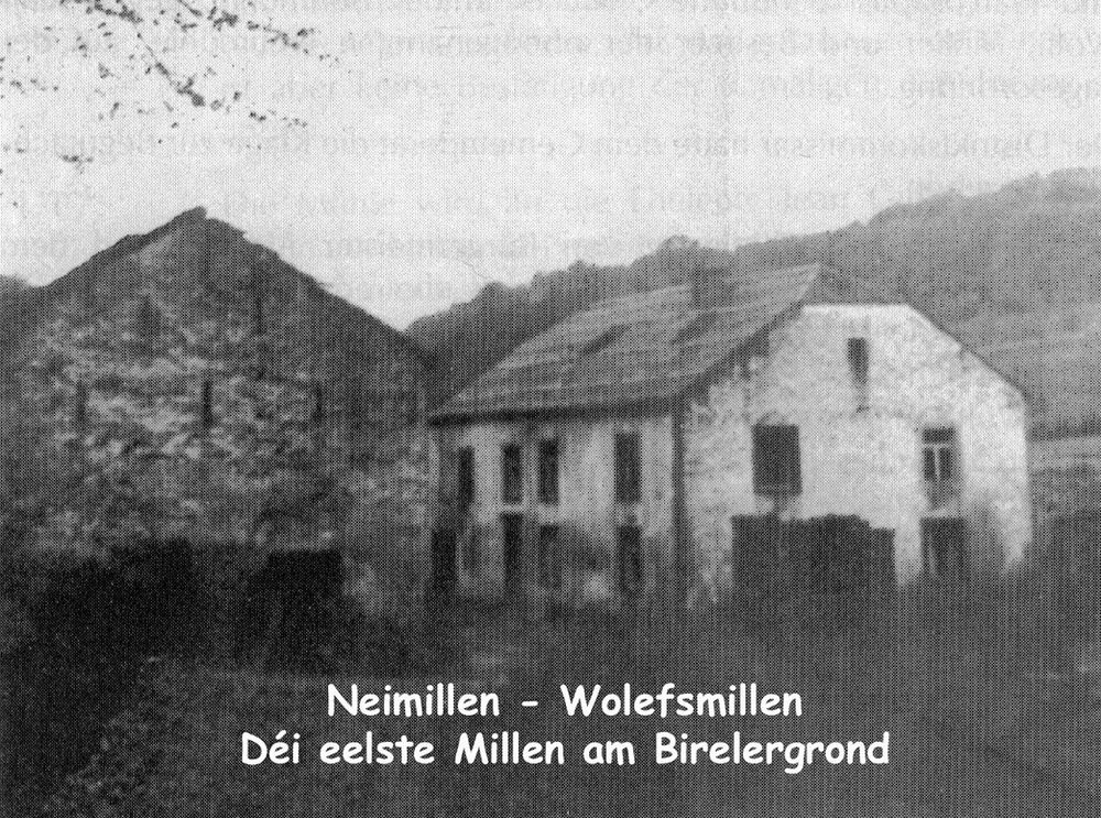 Neimillen-Wolefsmillen, le moulin le plus ancien du Birelergrund / die älteste Mühle im Birelergrund, © photographe inconnu, droits réservés, Collection Jos Feller, Sandweiler