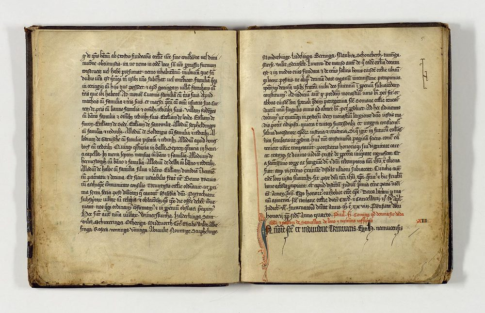 ANLux, SHL Abt.15 25 fol. 15, Acte de donation de Henri l'Aveugle de / Schenkungsurkunde von Heinrich dem Blinden von 1176, Copie de Cartulaire