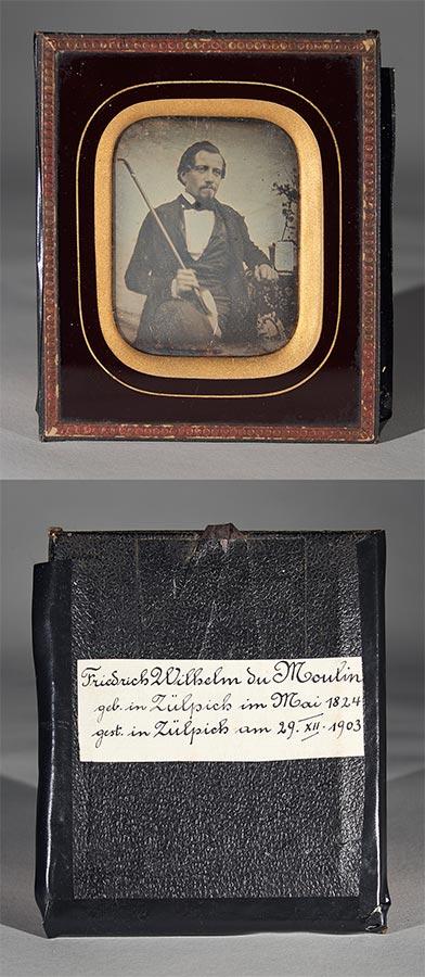 Daguerréotype de / Daguerreotypie von Friedrich Wilhelm du Moulin © photographe inconnu, droits réservés