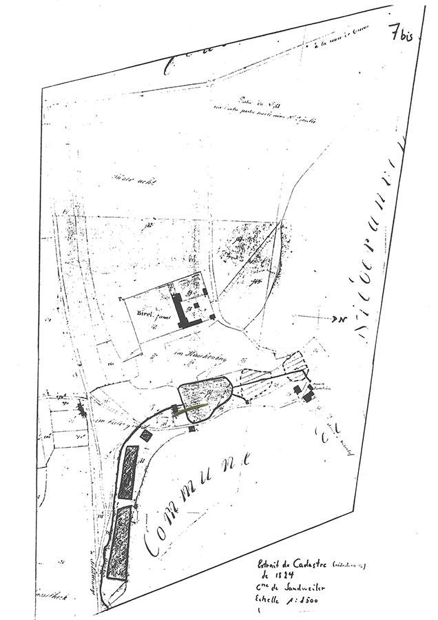 Plan de la ferme Birelerhof / des Hofes,© auteur inconnu, droits réservés, Collection Norbert Quintus