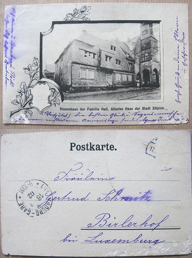Tour de la Mairie et maison de la famille / Rathhausturm und Haus der Familie de Hall, Zülpich © photographe inconnu, droits réservés