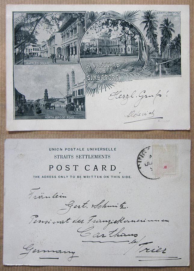© Union Postale Universelle Straits Settlements