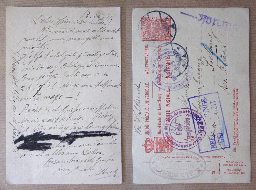 © Union Postale Universelle Grand-Duché de Luxembourg