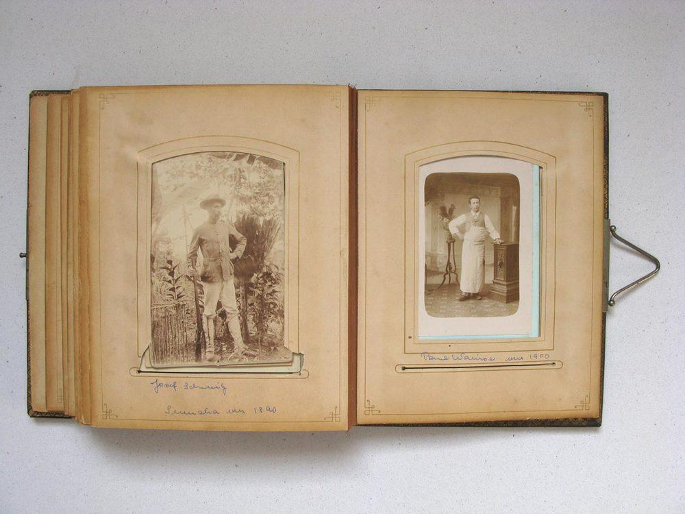 A gauche / links: Joseph Schmitz © photographe inconnu, droits réservés A droite / rechts: Paul Warisse © L. Mercier, Paris, ca. 1910