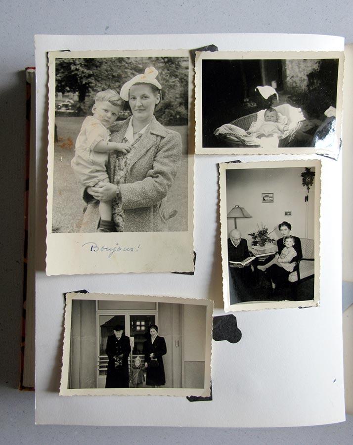 Paula et Louis Schmitz (en haut, à gauche / oben links), Maria et Marianne Schmitz avec enfants / mit Kindern © photographes inconnus, droits réservés