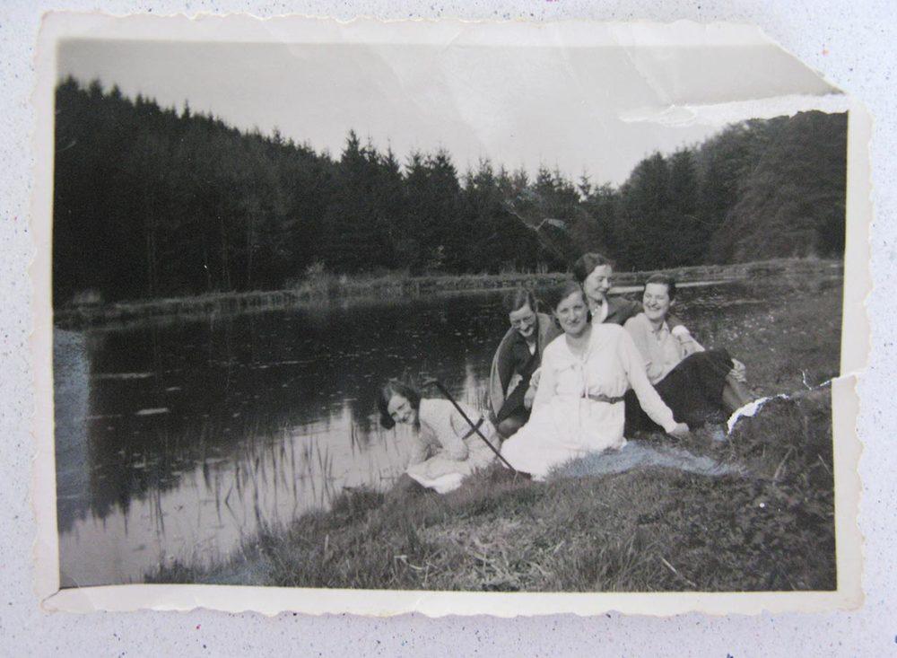 Promenade vers l'étang Berwick / Spaziergang zum Berwicks Weiher © photographe inconnu, droits réservés