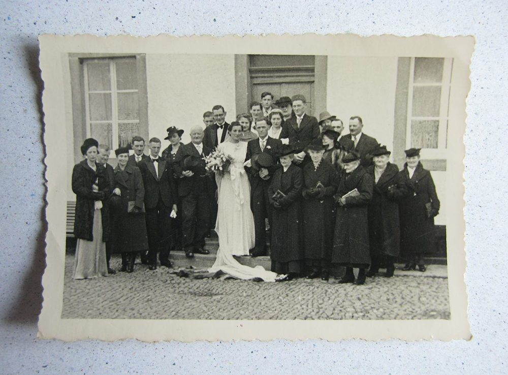 Mariage / Hochzeit Elisabeth Schmitz - Jos Conzémius, Fouhren, 1940 © photographe inconnu, droits réservés