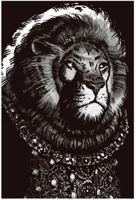 Comic Illustration Animal Throne mini poster available   here   for purchase